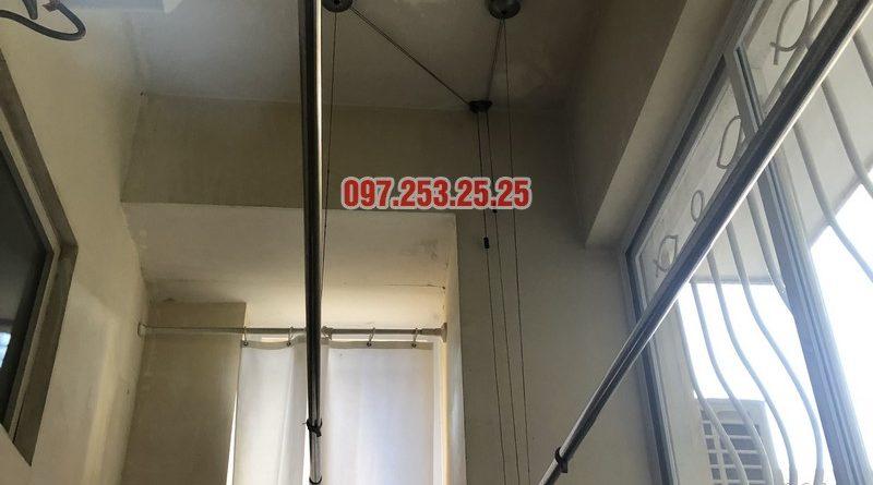 Sửa giàn phơi thông minh giá rẻ nhà anh Kiểm, căn 102, Tòa G03 Ciputra, Tây Hồ, Hà Nội - 06