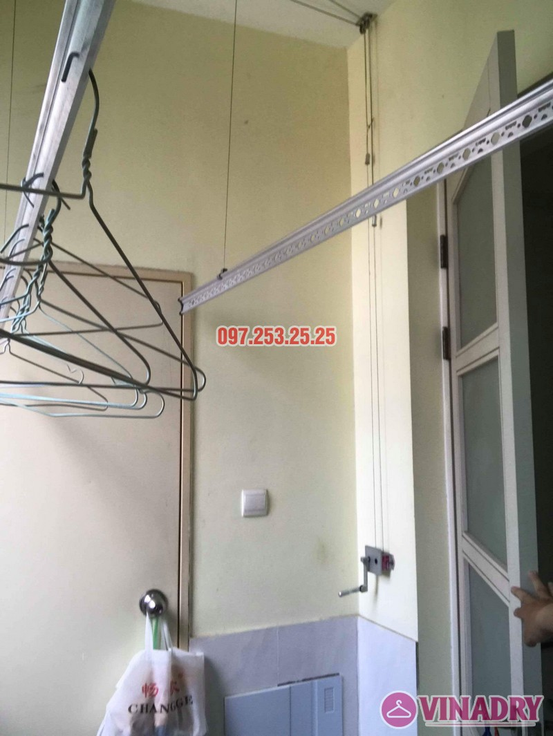Sửa giàn phơi thông minh nhập khẩu nhà chị Hồng, CT5 Huyndai Hillstate, Hà Đông, Hà Nội - 05