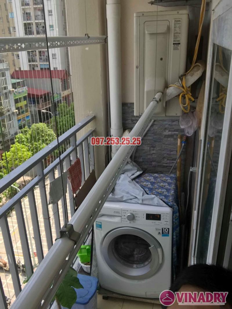Sửa giàn phơi quần áo nhà anh Chính, chung cư CT6, KĐT Xa La, Hà Đông - 08