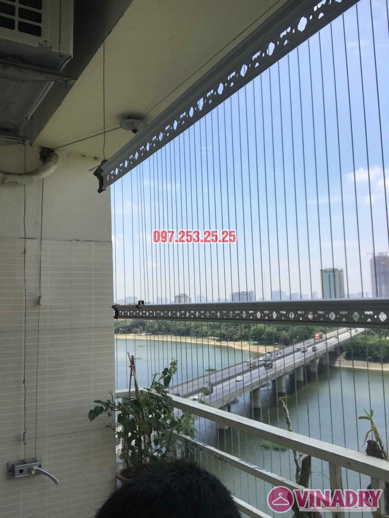 Sửa chữa giàn phơi thông minh nhà anh Mười, chung cư VP6 Linh Đàm, Hoàng Mai, Hà Nội - 03