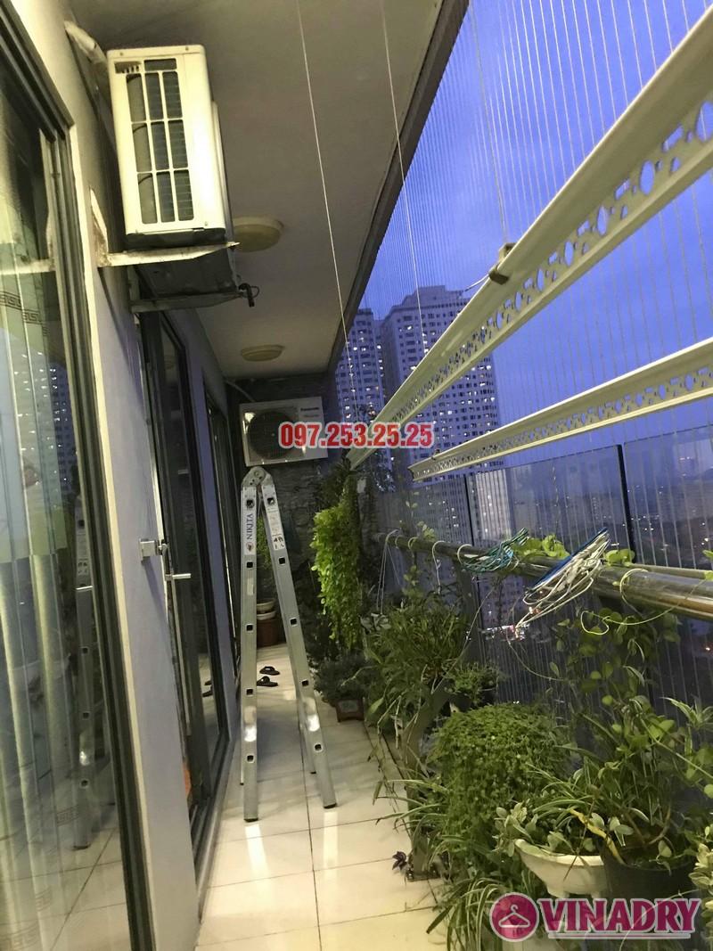 Sửa giàn phơi quần áo nhà anh Mạnh, chung cư CT2, KĐT Tây Nam Linh Đàm, Hoàng Mai, Hà Nội - 06