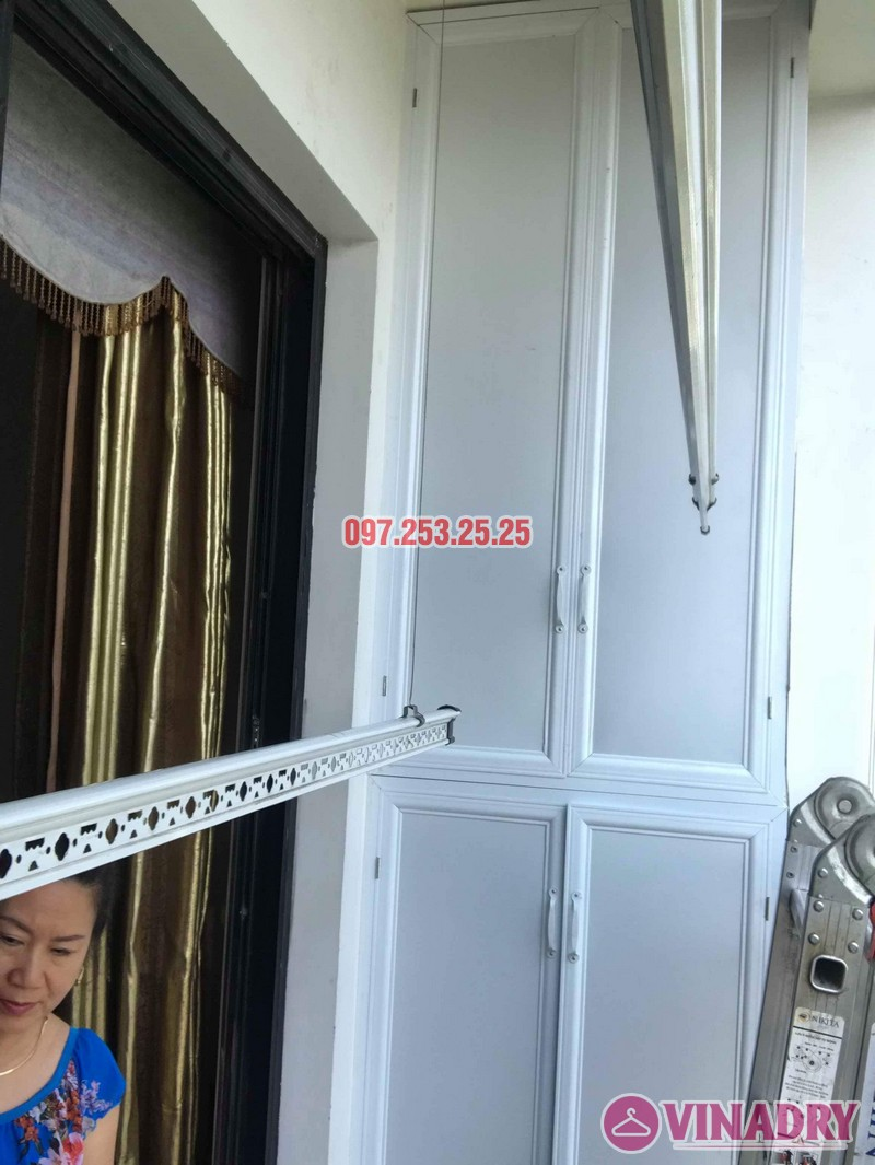 Sửa giàn phơi thông minh giá rẻ nhà chị Thời, Tòa T9 Times City, Hai Bà Trưng, Hà Nội - 02