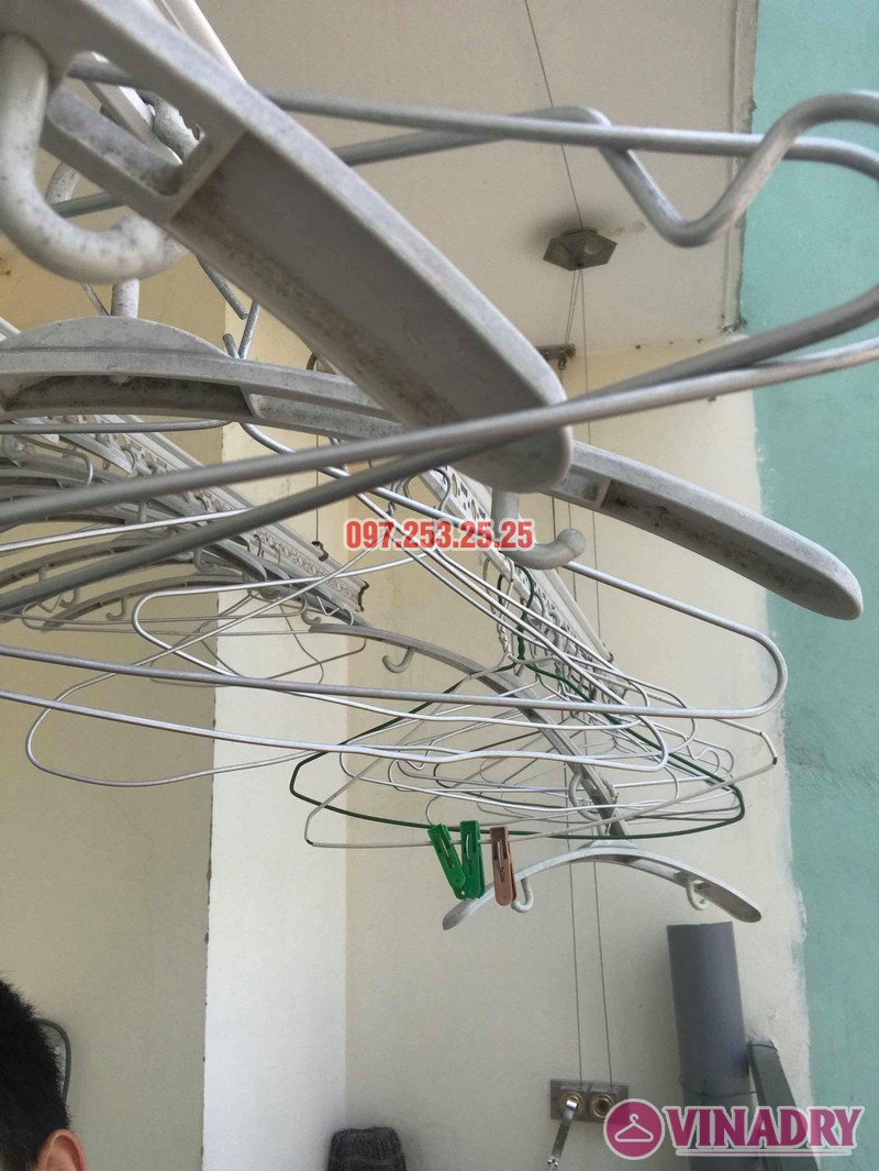 Sửa giàn phơi thông minh Hà Đông nhà chị Nhài, chung cư số 7 Trần Phú - 04