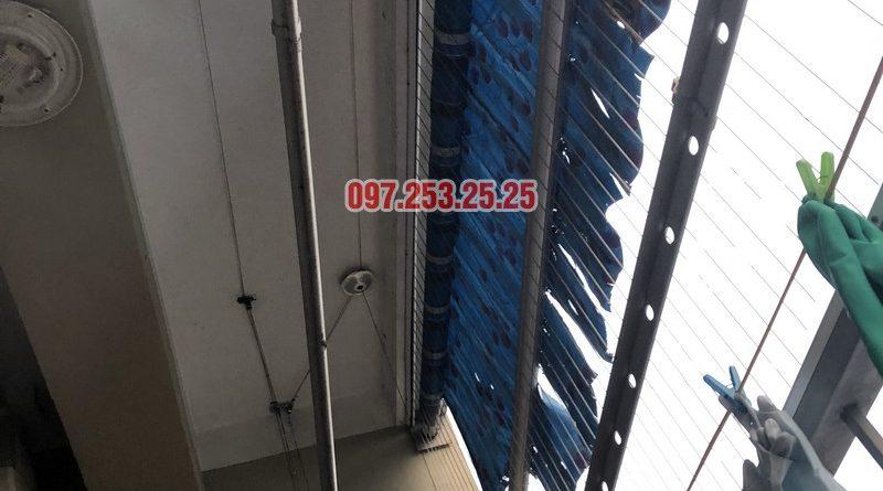 Sửa giàn phơi quần áo nhà chị Thiêm, căn 616, chung cư CT20E, KĐT Việt Hưng - 08
