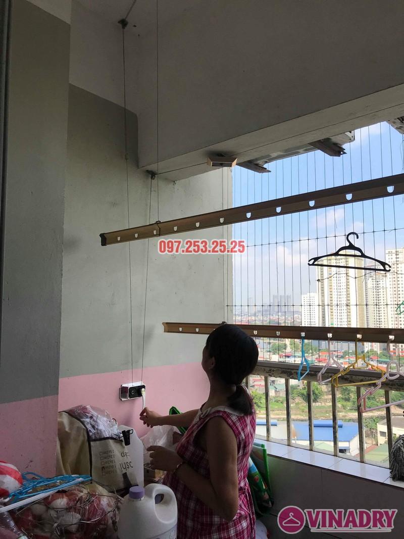 Sửa giàn phơi Hà Đông nhà chị Thanh, chung cư CT6, KĐT Xala - 01