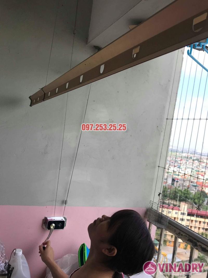 Sửa giàn phơi Hà Đông nhà chị Thanh, chung cư CT6, KĐT Xala - 02