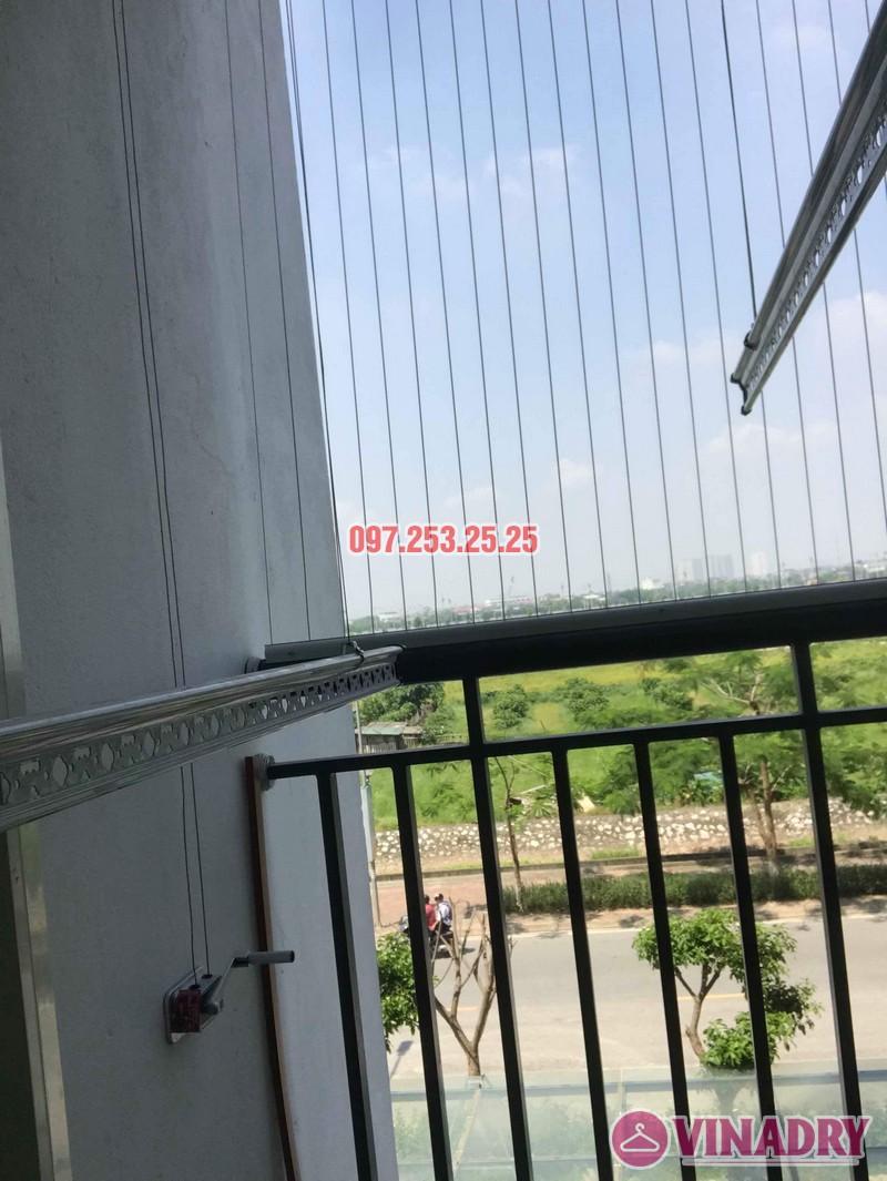 Lắp giàn phơi thông minh giá rẻ nhà cô Tâm, chung cư Ecohome Phúc Lợi, Long Biên, Hà Nội - 01
