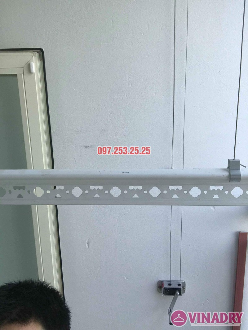 Lắp giàn phơi thông minh giá rẻ nhà cô Tâm, chung cư Ecohome Phúc Lợi, Long Biên, Hà Nội - 05