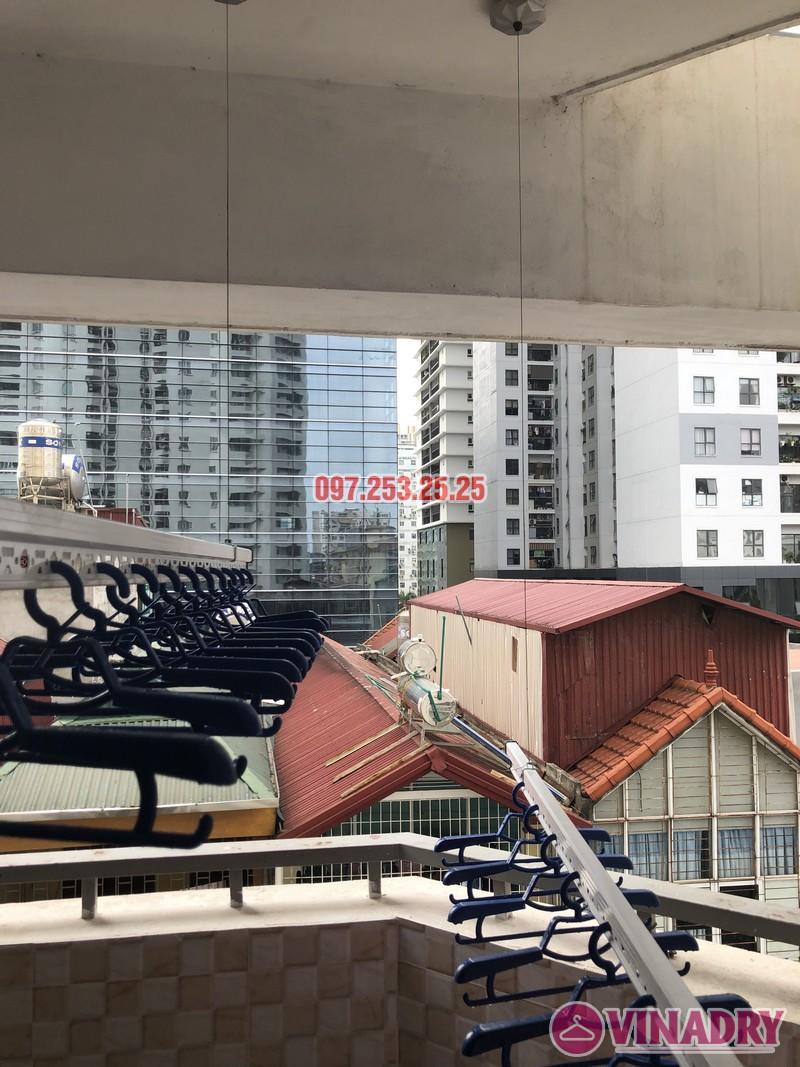 Lắp giàn phơi quần áo tại Thanh Xuân nhà chị Cẩm, căn 504 tòa Cowaelmic, 198 Nguyễn Tuân - 02