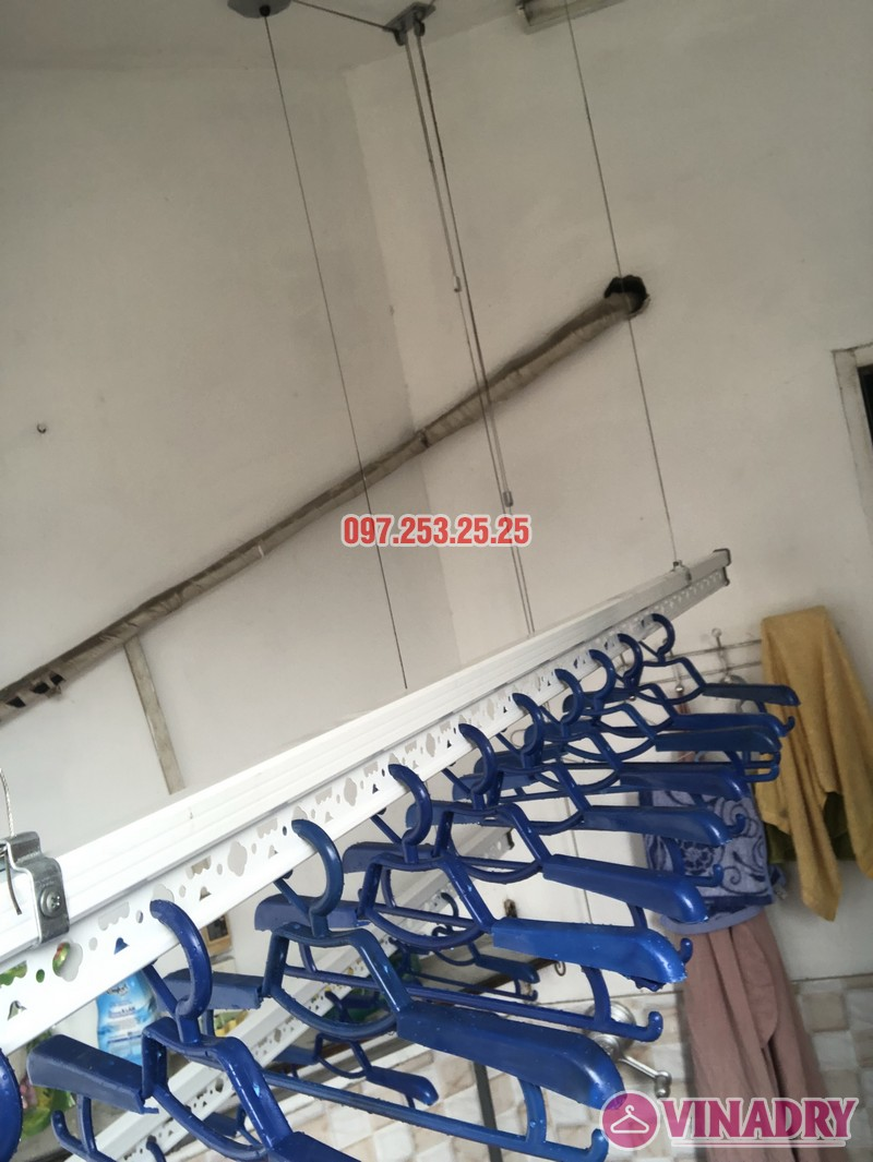 Lắp giàn phơi quần áo tại Thanh Xuân nhà chị Cẩm, căn 504 tòa Cowaelmic, 198 Nguyễn Tuân - 08