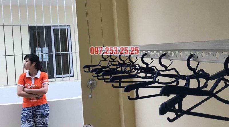 Lắp giàn phơi tại Hoàng Mai nhà chị Phượng, ngõ 420 Kim Giang - 08