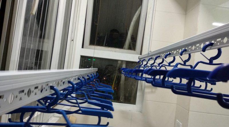 Lắp giàn phơi thông minh 999B nhà anh Trung, căn 1206, tòa B3D Nam Trung Yên, Cầu Giấy - 02