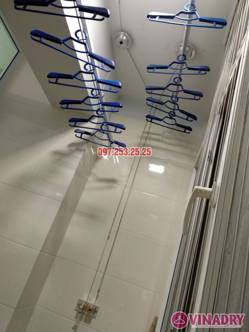Lắp giàn phơi thông minh 999B nhà anh Trung, căn 1206, tòa B3D Nam Trung Yên, Cầu Giấy - 04