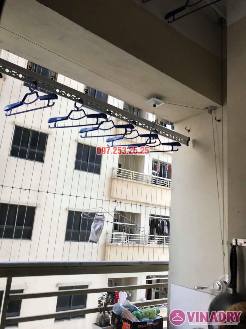 Lắp đặt giàn phơi thông minh nhà chị Mười, chung cư CT10, KĐT Đại Thanh, Thanh Trì, Hà Nội - 01