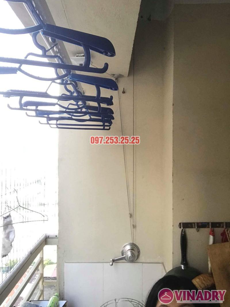 Lắp đặt giàn phơi thông minh nhà chị Mười, chung cư CT10, KĐT Đại Thanh, Thanh Trì, Hà Nội - 03