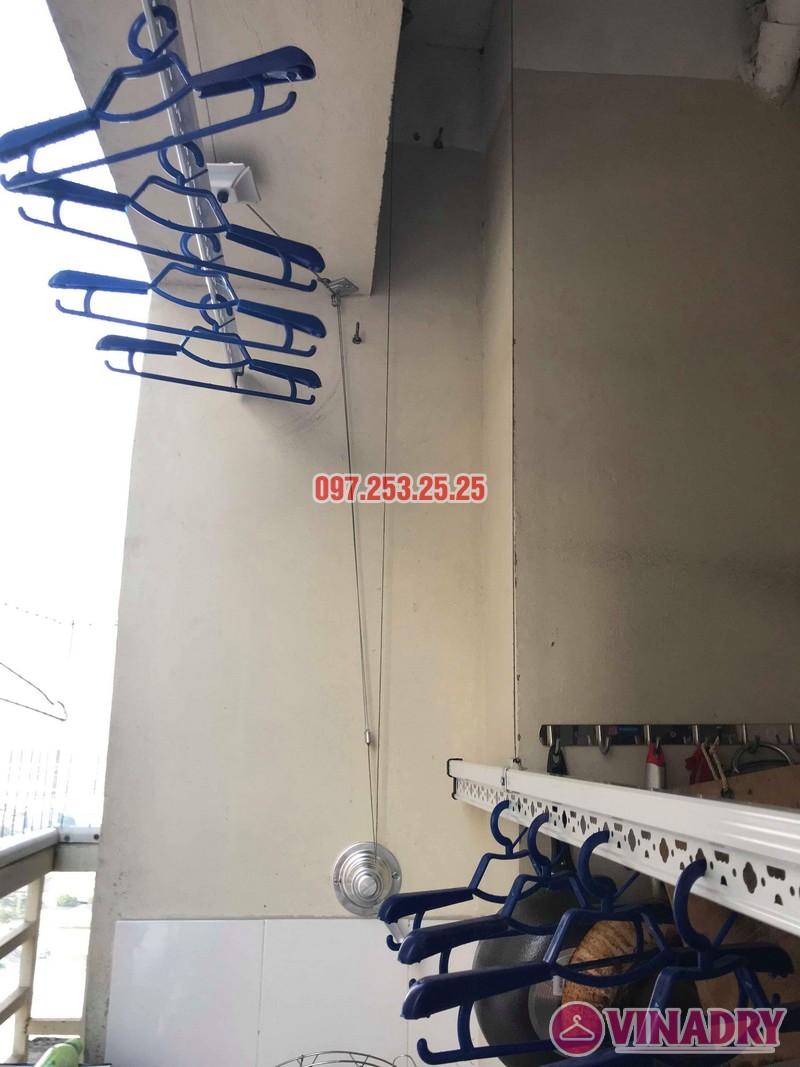 Lắp đặt giàn phơi thông minh nhà chị Mười, chung cư CT10, KĐT Đại Thanh, Thanh Trì, Hà Nội - 04