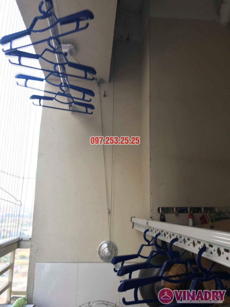 Lắp đặt giàn phơi thông minh nhà chị Mười, chung cư CT10, KĐT Đại Thanh, Thanh Trì, Hà Nội - 05
