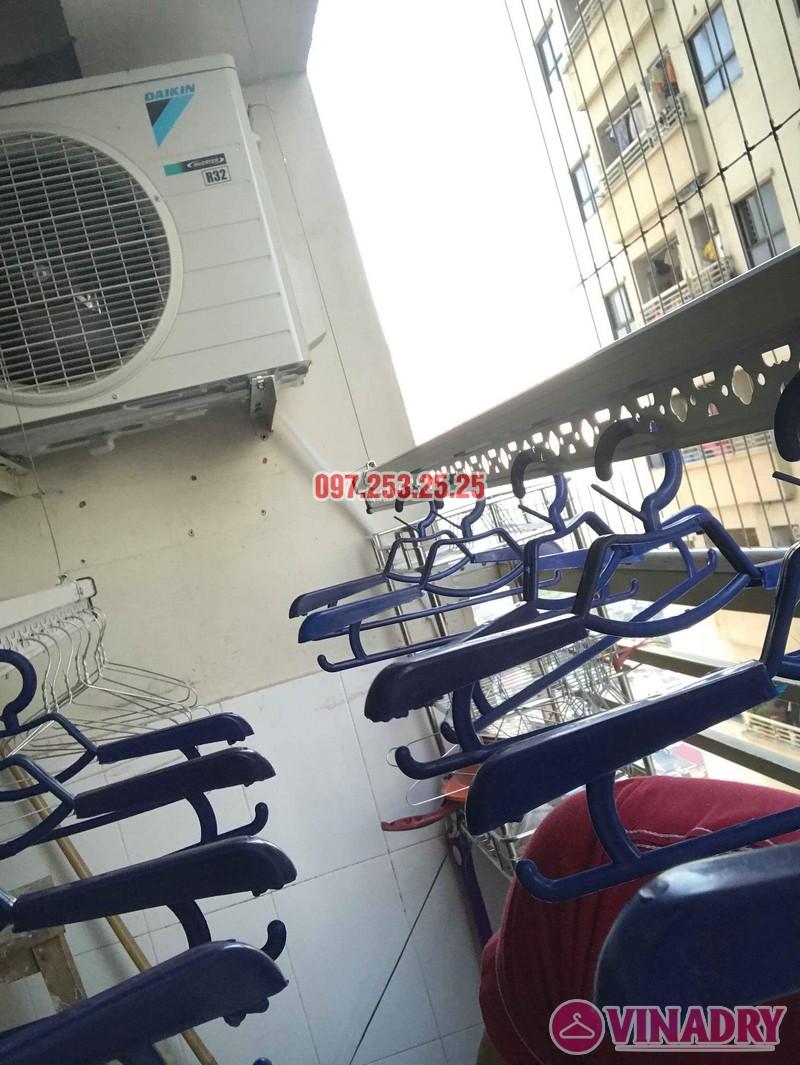 Lắp đặt giàn phơi thông minh nhà chị Mười, chung cư CT10, KĐT Đại Thanh, Thanh Trì, Hà Nội - 06
