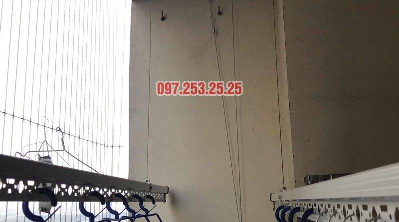 Lắp đặt giàn phơi thông minh nhà chị Mười, chung cư CT10, KĐT Đại Thanh, Thanh Trì, Hà Nội - 07