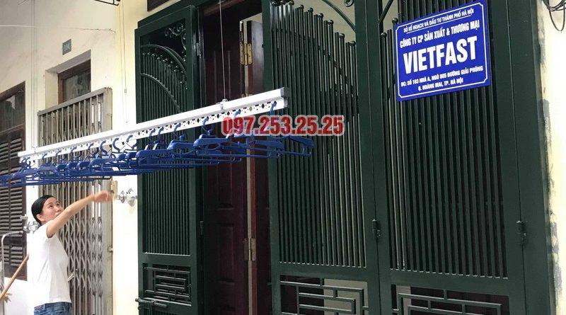 Lắp giàn phơi Hòa Phát Star 701 nhà chị Nhung, ngõ 805 Giải Phóng, Hoàng Mai, Hà Nội - 01