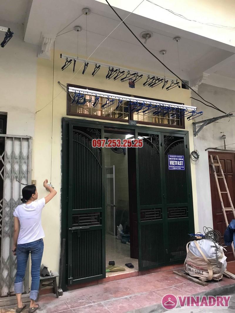 Lắp giàn phơi Hòa Phát Star 701 nhà chị Nhung, ngõ 805 Giải Phóng, Hoàng Mai, Hà Nội - 02