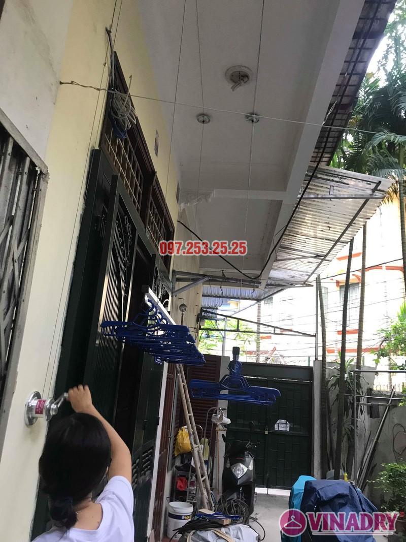 Lắp giàn phơi Hòa Phát Star 701 nhà chị Nhung, ngõ 805 Giải Phóng, Hoàng Mai, Hà Nội - 06