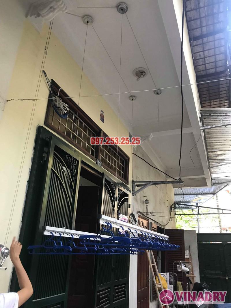 Lắp giàn phơi Hòa Phát Star 701 nhà chị Nhung, ngõ 805 Giải Phóng, Hoàng Mai, Hà Nội - 07