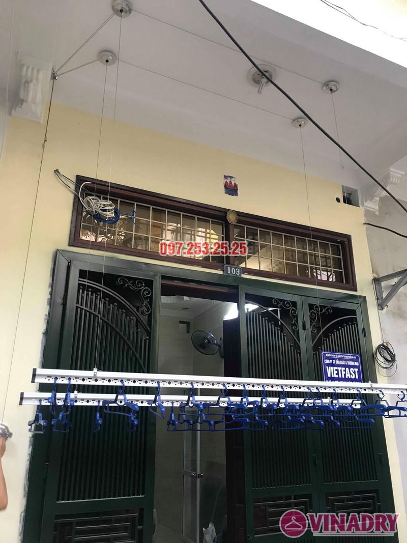 Lắp giàn phơi Hòa Phát Star 701 nhà chị Nhung, ngõ 805 Giải Phóng, Hoàng Mai, Hà Nội - 08