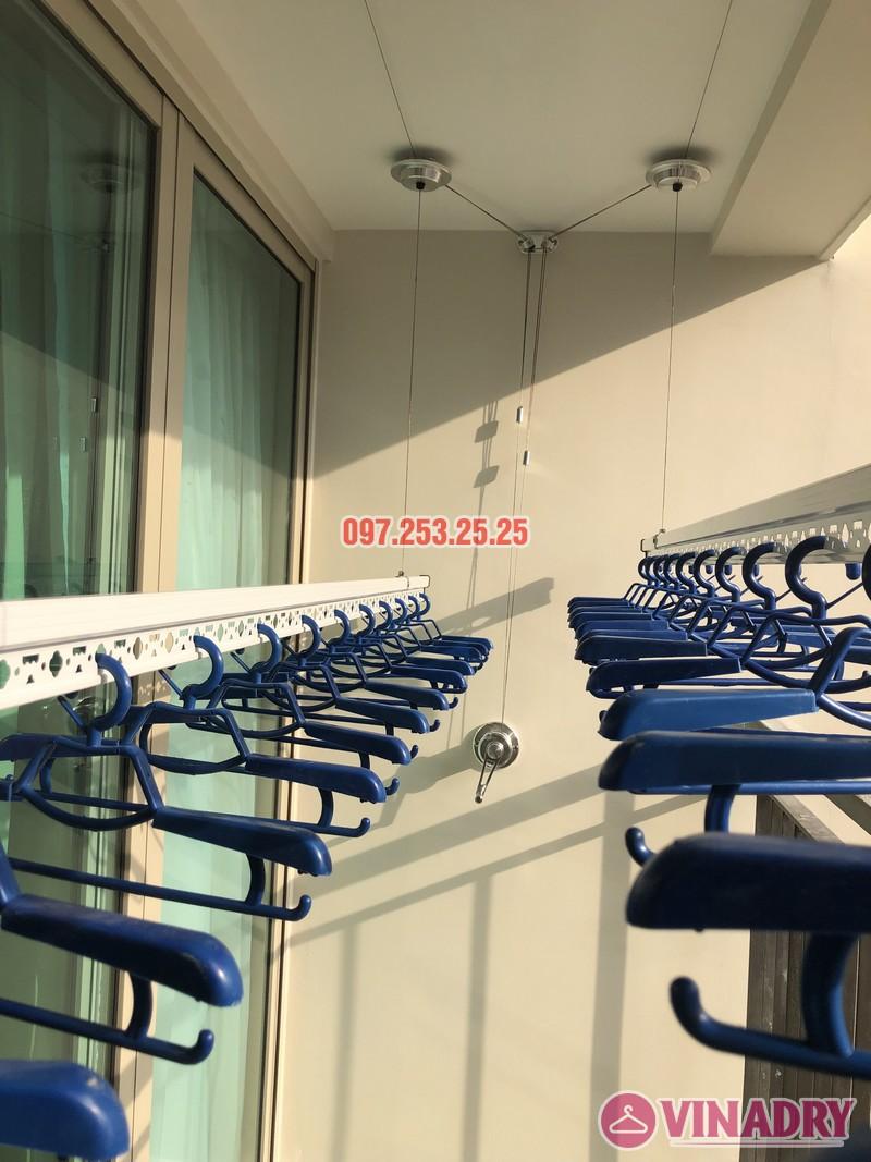 Lắp giàn phơi Hòa Phát tại Hoàng Mai nhà chị Thu, căn 706 tòa B, chung cư Mandarin Garden 2 - 01