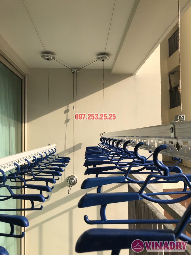 Lắp giàn phơi Hòa Phát tại Hoàng Mai nhà chị Thu, căn 706 tòa B, chung cư Mandarin Garden 2 - 02