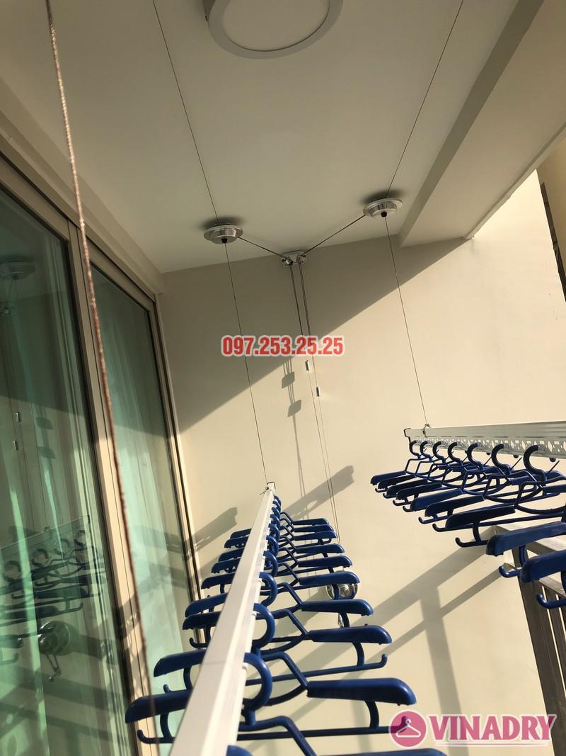 Lắp giàn phơi Hòa Phát tại Hoàng Mai nhà chị Thu, căn 706 tòa B, chung cư Mandarin Garden 2_06