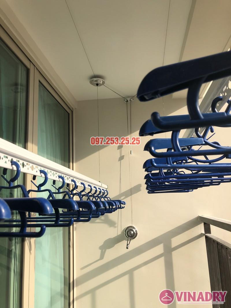Lắp giàn phơi Hòa Phát tại Hoàng Mai nhà chị Thu, căn 706 tòa B, chung cư Mandarin Garden 2_08