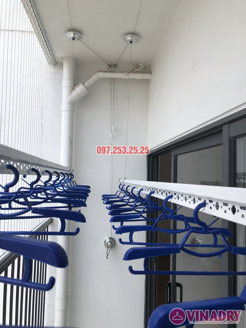 Lắp giàn phơi Hòa Phát tại Thanh Xuân nhà chị Bích, căn 1304 tòa B Golden West - 01