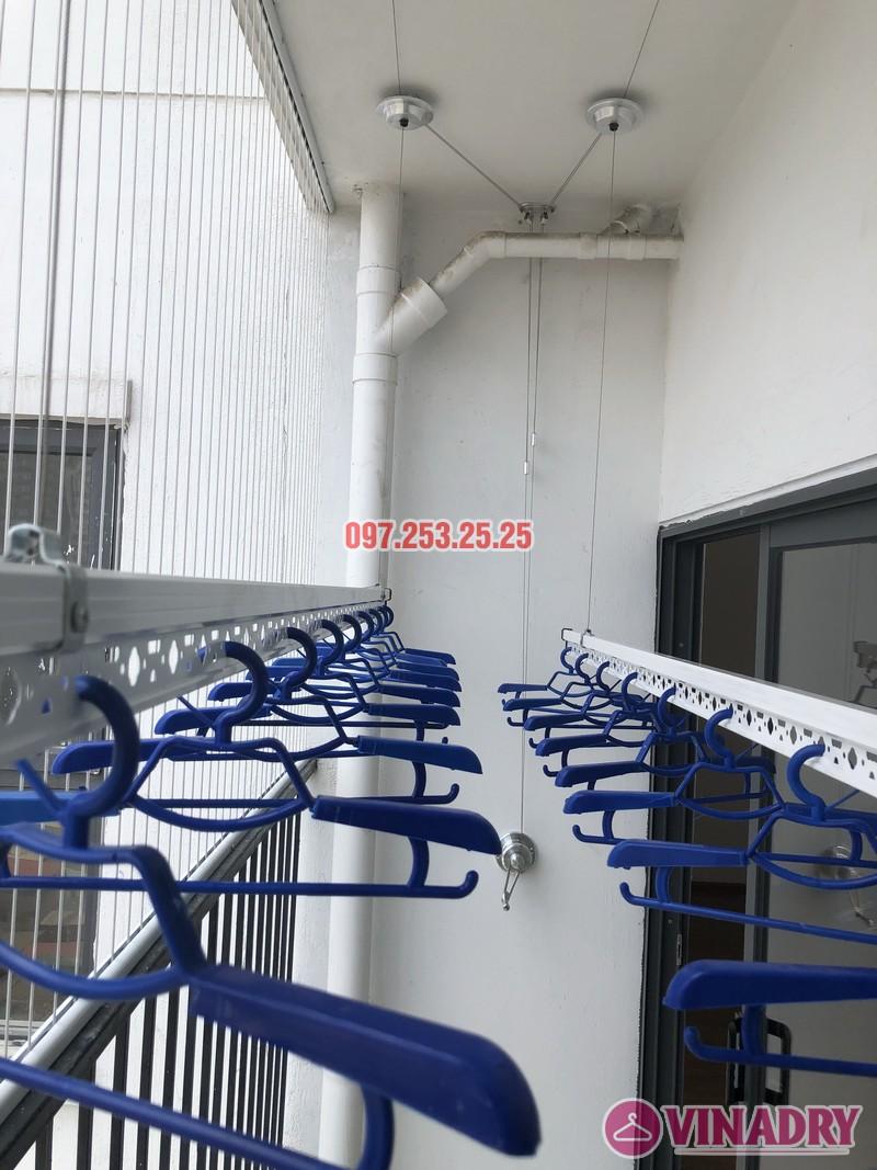 Lắp giàn phơi Hòa Phát tại Thanh Xuân nhà chị Bích, căn 1304 tòa B Golden West - 02