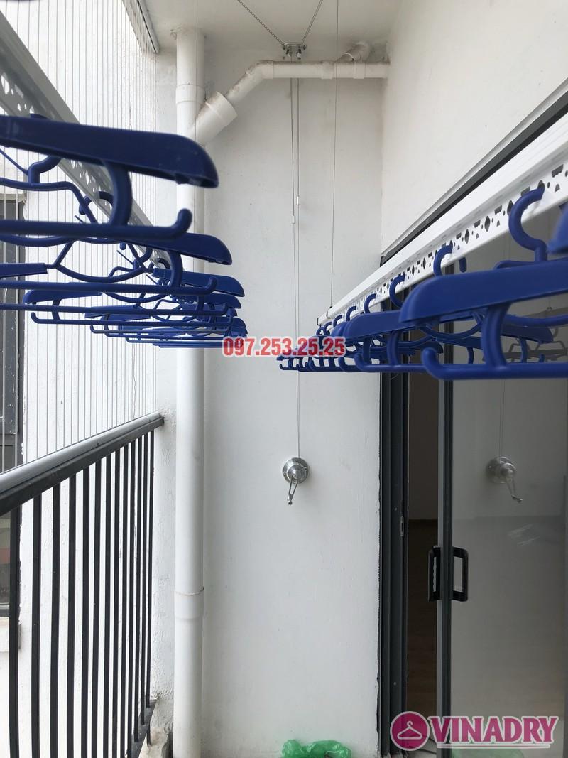 Lắp giàn phơi Hòa Phát tại Thanh Xuân nhà chị Bích, căn 1304 tòa B Golden West - 04