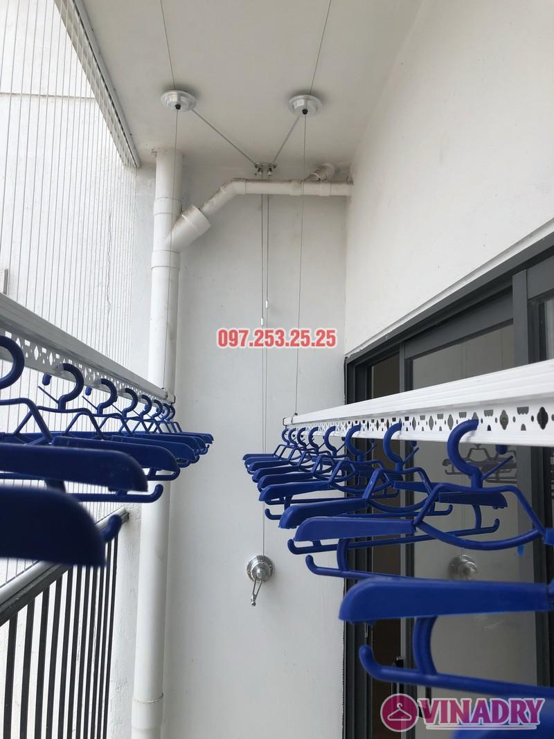Lắp giàn phơi Hòa Phát tại Thanh Xuân nhà chị Bích, căn 1304 tòa B Golden West - 05