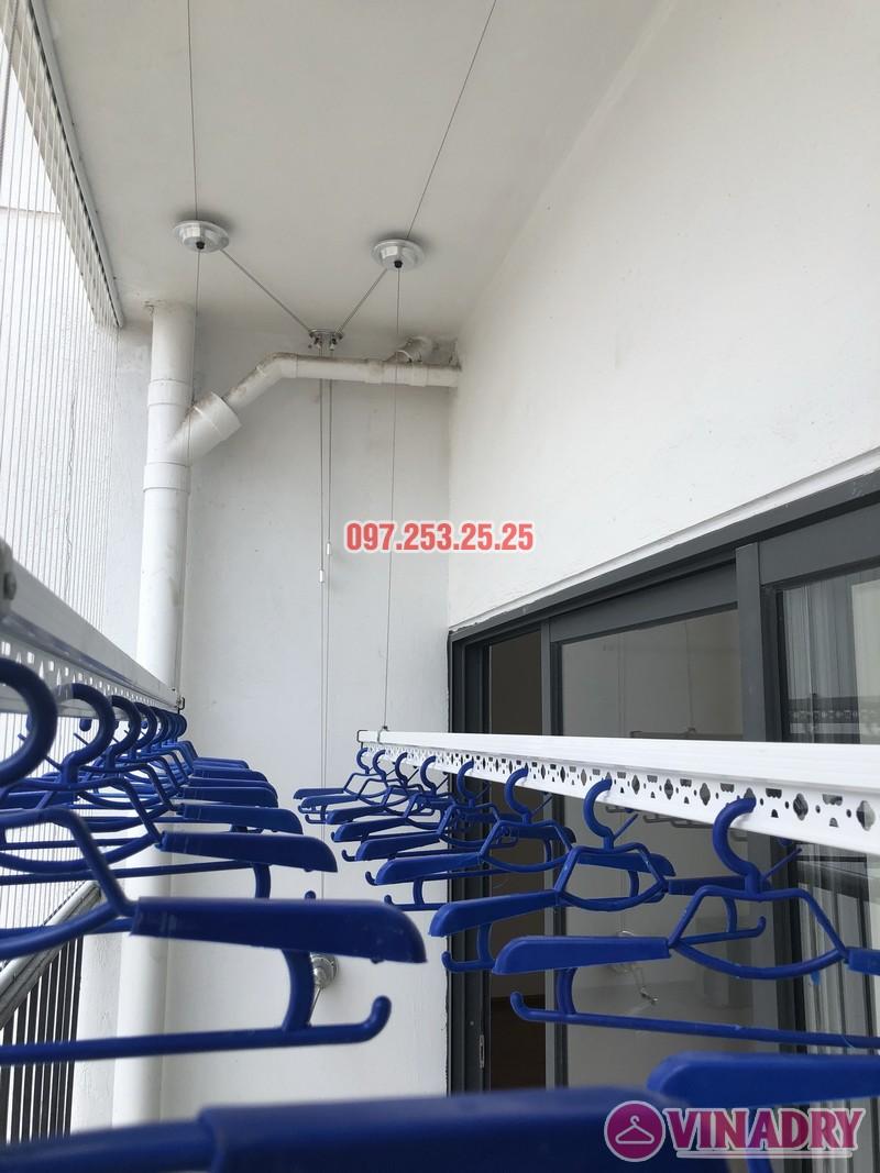 Lắp giàn phơi Hòa Phát tại Thanh Xuân nhà chị Bích, căn 1304 tòa B Golden West - 07