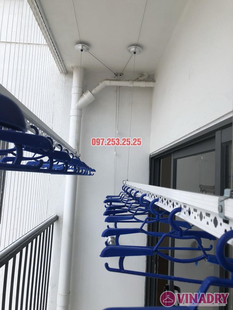 Lắp giàn phơi Hòa Phát tại Thanh Xuân nhà chị Bích, căn 1304 tòa B Golden West - 08
