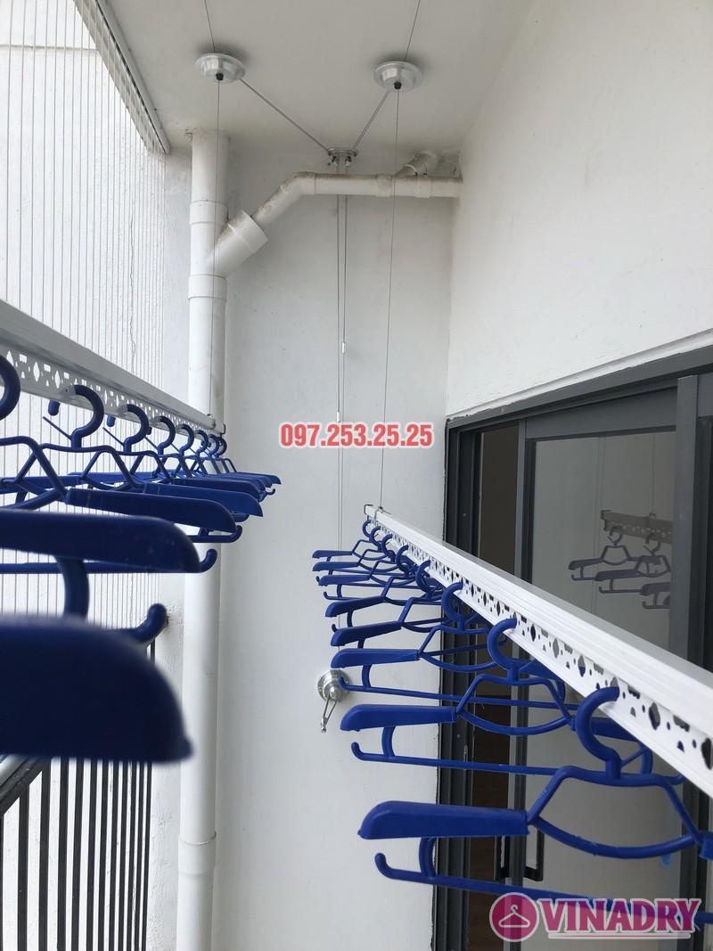 Lắp giàn phơi Hòa Phát tại Thanh Xuân nhà chị Bích, căn 1304 tòa B Golden West - 09