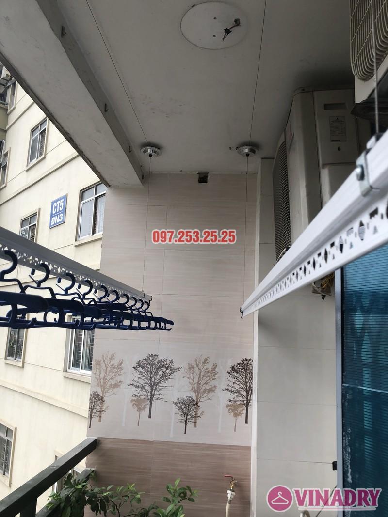 Lắp giàn phơi Hòa Phát nhà anh Trị, căn 514 tòa CT5, KĐT Mỹ Đình II, Nam Từ Liêm, Hà Nội - 01
