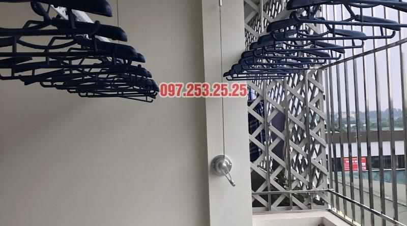 Lắp giàn phơi Hòa Phát Star nhà anh Bình, số 2c, ngõ 217 Phạm Văn Đồng - 08