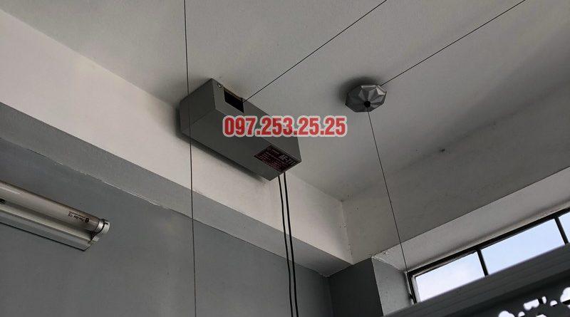 Lắp giàn phơi bấm điện nhà chị Ca, số 19, ngõ 153/3 Thanh Nhàn, Hai Bà Trưng, Hà Nội - 01