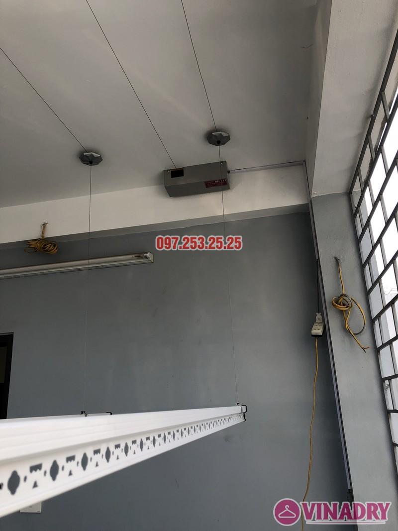 Lắp giàn phơi bấm điện nhà chị Ca, số 19, ngõ 153/3 Thanh Nhàn, Hai Bà Trưng, Hà Nội - 04