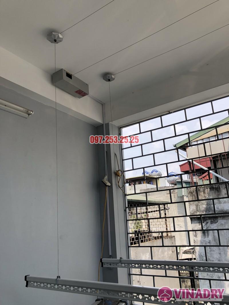 Lắp giàn phơi bấm điện nhà chị Ca, số 19, ngõ 153/3 Thanh Nhàn, Hai Bà Trưng, Hà Nội - 05