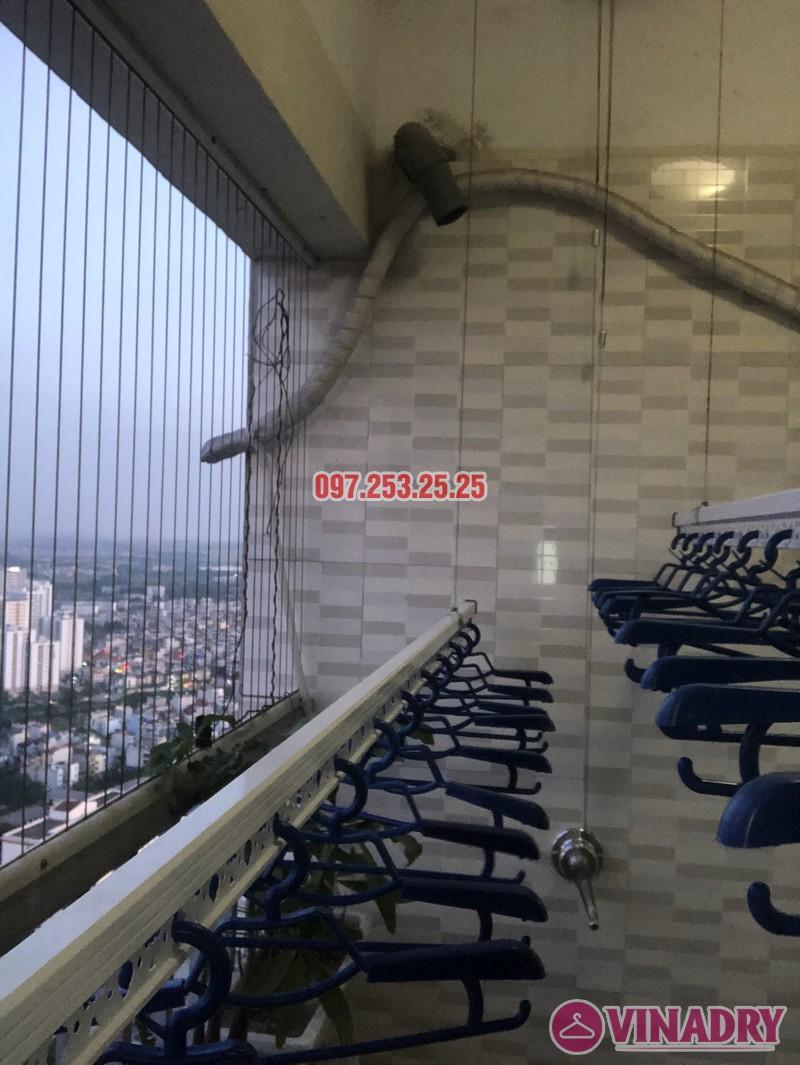 Lắp giàn phơi Hòa Phát giá rẻ cho nhà chị Thiêm, căn 4138, CT12C Kim Văn Kim Lũ - 03