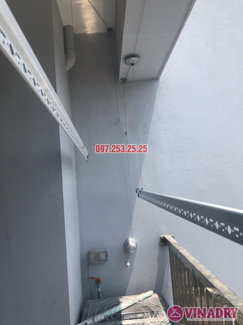 Lắp giàn phơi Hòa Phát KS950 nhà chị Mai, Căn 1408 CT1 chung cư Vinahud Cửu Long, 536 Minh Khai - 01