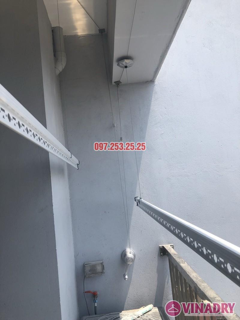 Lắp giàn phơi Hòa Phát KS950 nhà chị Mai, Căn 1408 CT1 chung cư Vinahud Cửu Long, 536 Minh Khai - 03