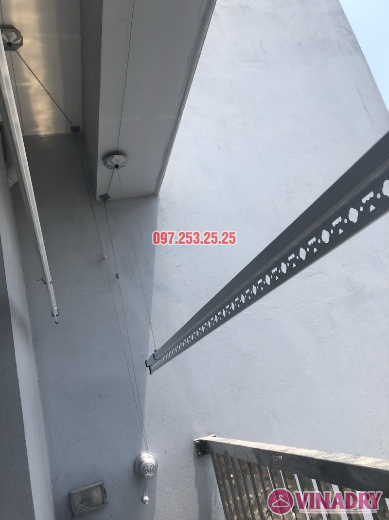 Lắp giàn phơi Hòa Phát KS950 nhà chị Mai, Căn 1408 CT1 chung cư Vinahud Cửu Long, 536 Minh Khai - 05