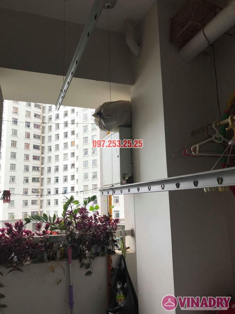 Thay dây cáp giàn phơi thông minh nhà anh Tiến, chung cư CT3 Nam Cường, Cổ Nhuế - 07