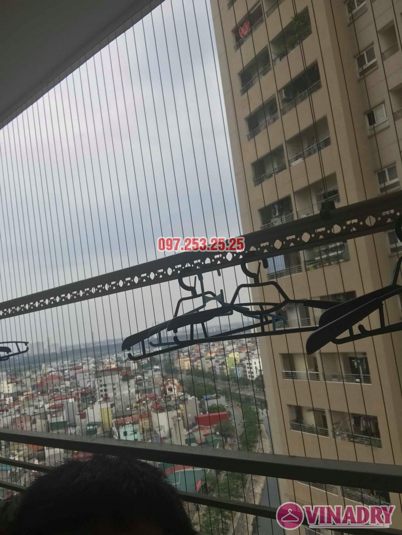Sửa giàn phơi thông minh nhà chị Thanh, chung cư Nam Đô Complex, Hoàng Mai, Hà Nội - 05